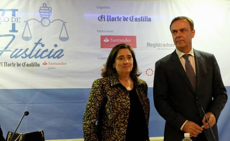 José Ramón Navarro y Elvira Tejada, en el Ciclo de Justicia de El Norte de Castilla-Santander celebrado en Zamora
