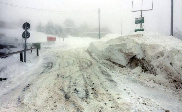Gran nevada y temperaturas extremas en el puerto de Navacerrada
