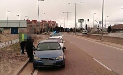 Una mujer trasladada al hospital Clínico por un accidente en la carretera Villabáñez