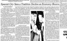 Un viaje por el tiempo: Valladolid y su Semana Santa, vistos por 'The New York Times' en 1980