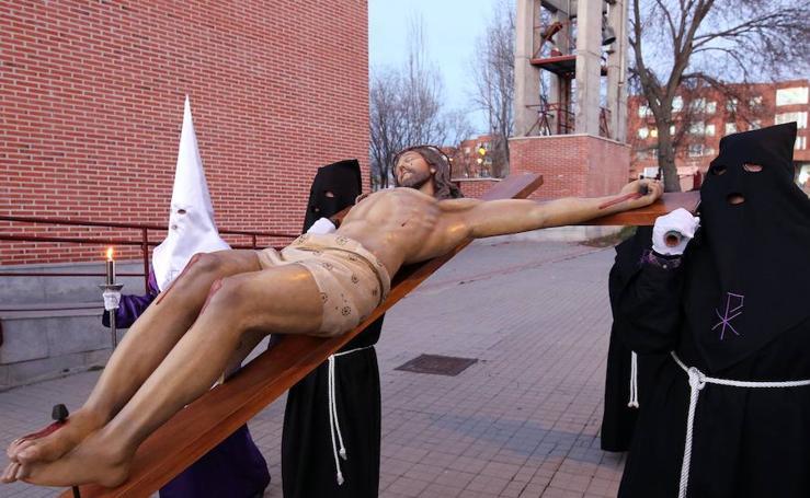 Vía Crucis con el Santísimo Cristo de la Salud en Nueva Segovia