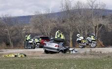 Dos fallecidos en un accidente en la N-122 en Soria