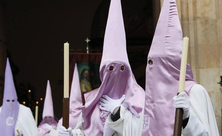 Procesión de la Seráfica Hermandad el Jueves Santo en Salamanca