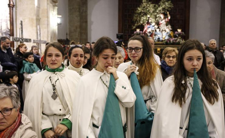La lluvia arruina el Viernes Santo en Salamanca