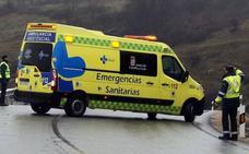 Un accidente genera una retención de siete kilómetros en la A-1 en Cerezo de Abajo