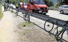 Herido un ciclista al ser atropellado por un coche en la CL-601
