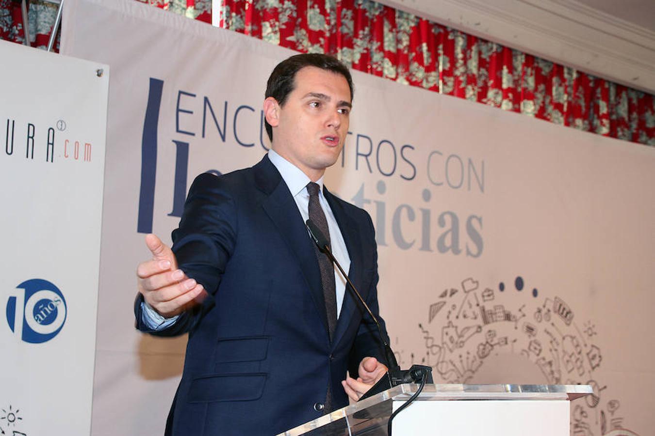 Albert Rivera, en el encuentro informativo de leonoticias