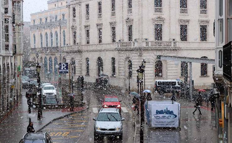 Lunes de nieve en Burgos