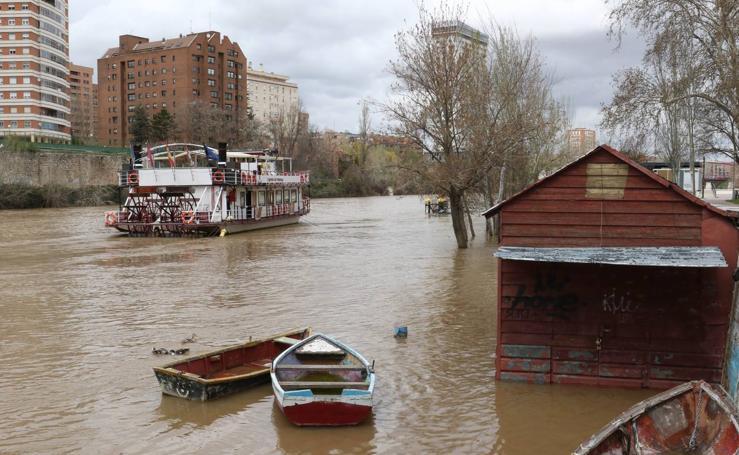 Sube el caudal del Pisuerga en Valladolid y en la provincia