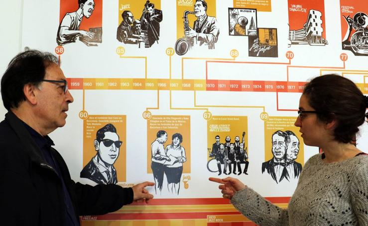Una exposición repasa en el centro cívico José Luis Mosquera los 40 años del jazz en España