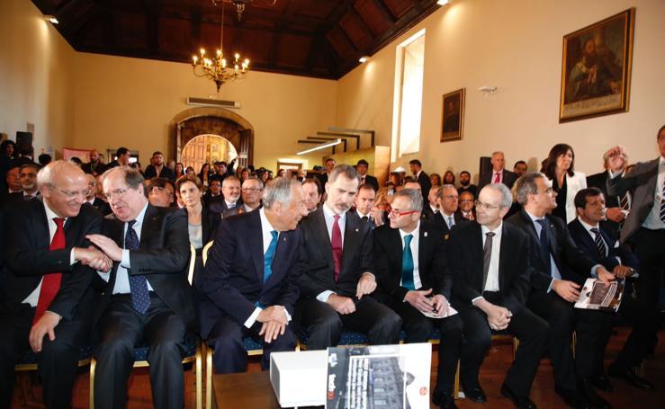 El Rey Felipe VI visita la Universidad de Salamanca junto con el presidente de la República de Portugal