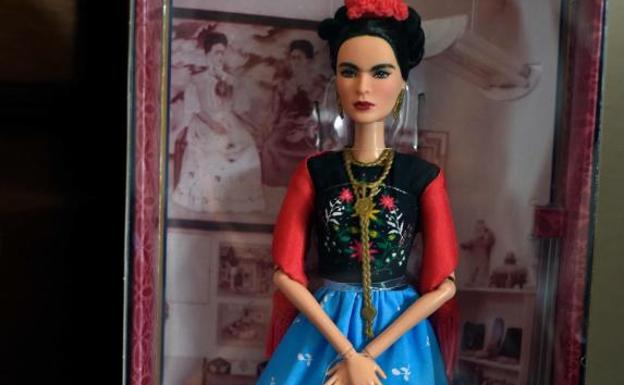 La Barbie de Frida Kahlo./Afp