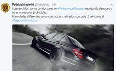 La Policía Local denuncia a varios conductores por realizar derrapes en el polígono de Las Raposas