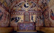 Las valiosas pinturas de la inundada ermita de Maderuelo, a salvo