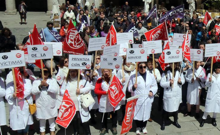 Manifestación del Primero de Mayo en Segovia