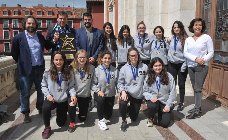 Las Panteras, campeonas de la European League, son recibidas por el alcalde de Valladolid