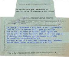 Francia envía su último telegrama. sTOP
