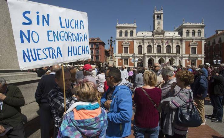 Manifestación de pensonistas en Valladolid