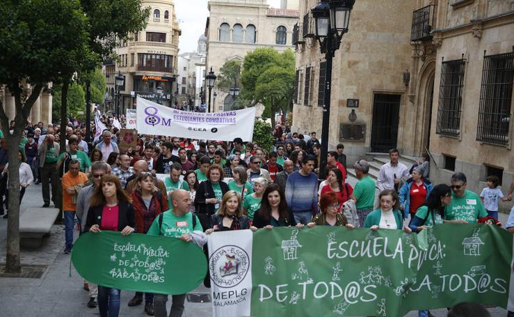 Manifestación Por una escuela Pública de Calidad de Salamanca