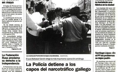 Así contó El Norte de Castilla la 'Operación Nécora' que verás esta noche en 'Fariña'