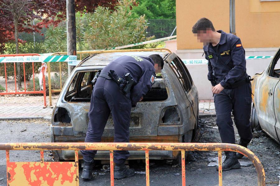 Investigación del incendio de vehículos en Torrecaballeros