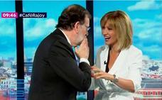 Rajoy da la enhorabuena en directo a Griso