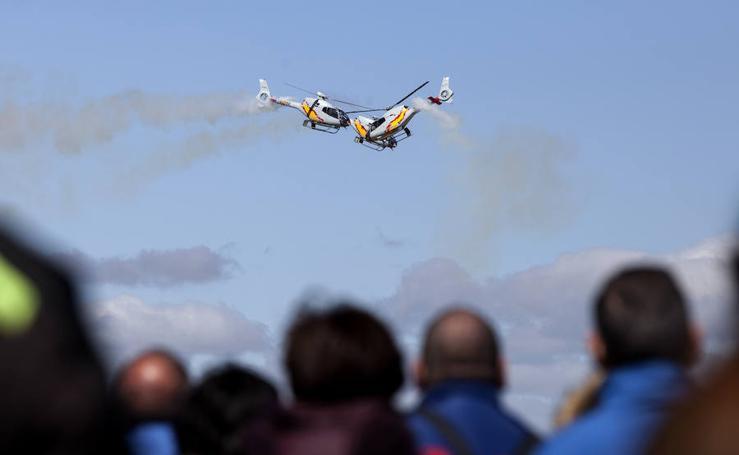 La Base Aérea de Matacán dedica una exhibición al VIII Centenario de la Universidad de Salamanca