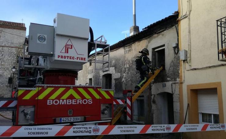 Incendio en la localidad vallisoletana de Canalejas de Peñafiel