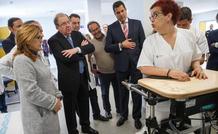 Juan Vicente Herrera visita las nuevas instalaciones del Hospital Provincial de Zamora