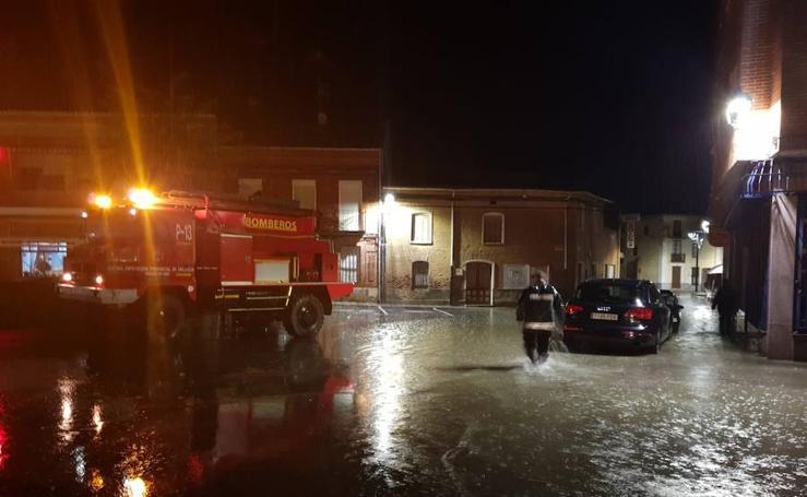 Inundaciones en Villarramiel por las fuertes lluvias