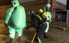 Humo tóxico por un incendio en Santovenia