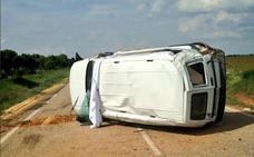 Un herido leve en un accidente en Peñaflor de Hornija