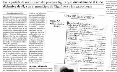 Nieta de Dióscoro Galindo, fusilado con García Lorca: «Necesitamos cerrar heridas y que mi abuelo esté en un cementerio»