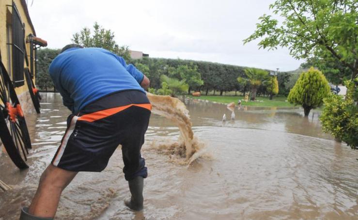 Inundaciones en Viana de Cega