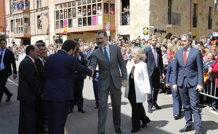 El Rey, recibido en Aguilar de Campoo (1/2)