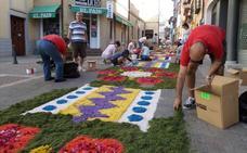 Carrión decorará con alfombras de flores dos kilómetros de sus calles