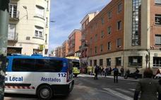 Atropellado en un paso de peatones en la calle La Puebla