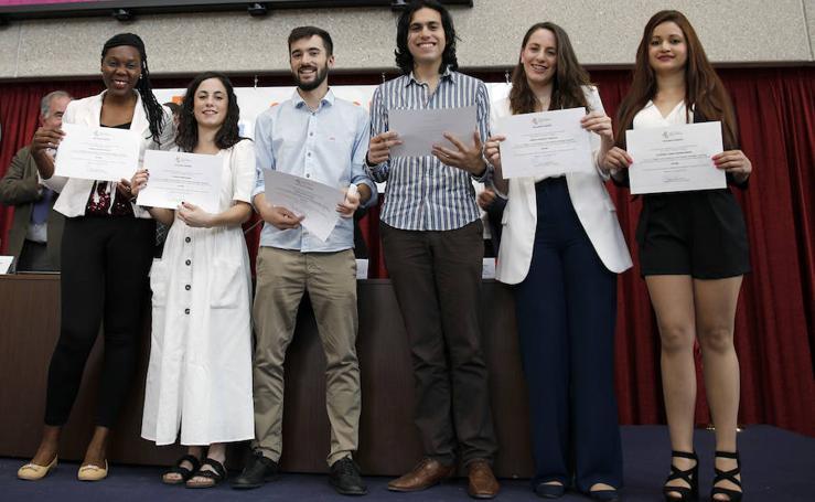 Acto de posgraduación de masters en el campus de la UVA en Segovia