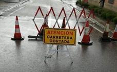 La carretera de Olivares a Villabáñez permanecerá cortada el fin de semana ante las lluvias previstas