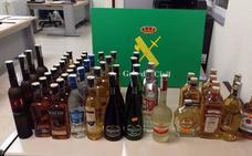 Incautadas 51 botellas ilegales en un bazar de Segovia