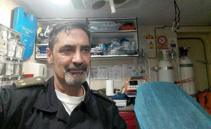 Un médico vallisoletano, en la Antártida