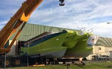 Valverde del Majano 'bota' el mayor ferry construido en Segovia