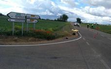 Un ciclista que recorría el Camino de Santiago fallece arrollado por un coche en Palencia