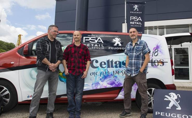 Presentación de las furgonetas Peugeot Traveller para la gira de Celtas Cortos 'Energía positiva'