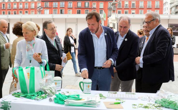 Cuestación de la Asociación Española Contra el Cáncer en Valladolid