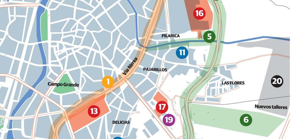 Un proyecto con 21 intervenciones en diez años persigue la revitalización de la zona este de Valladolid