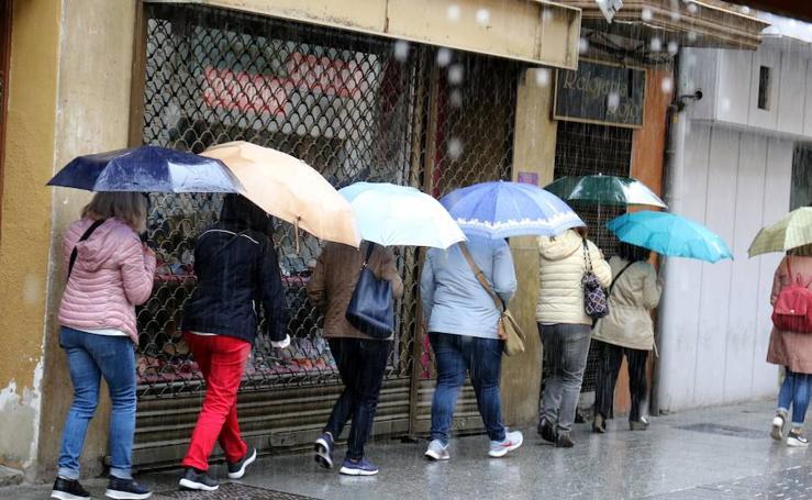 Fin de semana de intensa lluvia en Valladolid