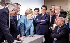 Merkel califica de «deprimente» la actitud de Trump ante el G-7