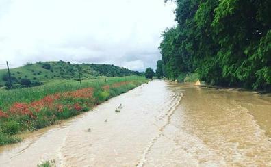 La localidad vallisoletana de Pollos, afectada por las inundaciones