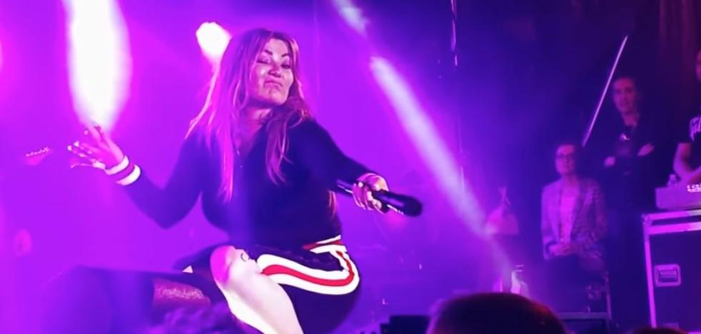 Amaia Montero, acusada de salir a cantar «borracha» en un concierto en Cantabria